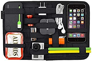 SAYKHUS Electronics Organizer Board, Travel Gear Electronic Accessories Gadgets Cable for Backpack Organizer with Upgraded...