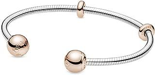 PANDORA Moments Snake Chain Style Open Bangle Bracelet