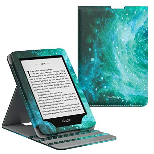 MoKo Case Fits Kindle Paperwhite (10th Generation, 2018 Releases), Premium Vertical Flip Cover with Auto Wake/Sleep Compatible for Amazon Kindle Paperwhite 2018 E-Reader - Swirl