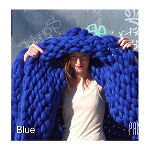 YMYGCC Hilo Gigante 1000 g/Bola Hilados de Hilo súper Grueso Hilos Blandos Grandes Hilos Gruesos Barmky Brazo Blight Roving Knitting Spinning Hiland Gigante De TejeduríA Manual (Color : Royal Blue)