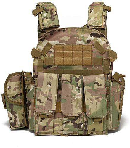 ZZTT Taktische Multifunktions-Tarnweste für den Außenbereich, MOLLE umfassender und praktischer militärischer Trainingsanzug, CS aktuelle Kampfübungs-Kombinationsweste CP