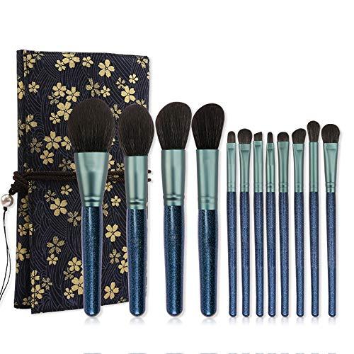 8 PCS Maquillage Pinceaux Ombre À Paupières Fondation Sourcils Lèvres Eyeliner Sourcils Brosses Maquiagem Synthétique Cheveux Brosse à maquillage XXYHYQ (Color : 02, Size : Libre)