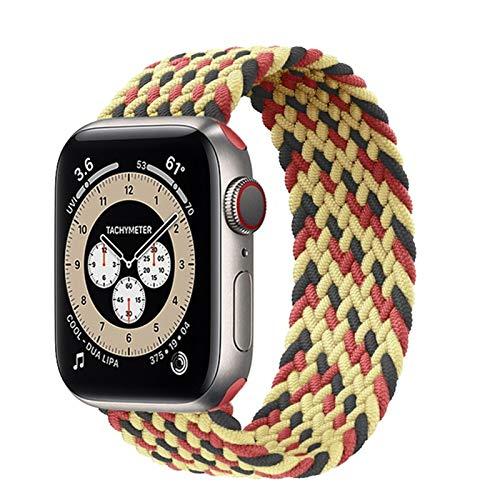 ZHONGGOZZ Bandas de Reloj de Deportes compatibles con Banda Trenzada en Solitario Apple Apple Band 38mm 40mm 42mm 44mm, Pulsera Trenzada Suave y Trenzada para iWatch Series 1/2/3/4/5/6 / SE