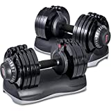 Merax Deluxe 71.5 Pounds Adjustable Dial Dumbbell with...