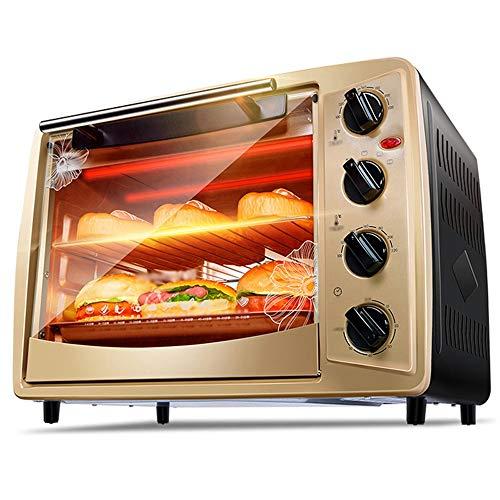 CMmin Mini Countertop Toaster, 440 * 300 * 330 mm exterieur, Eerste en Tweede Tubes, onafhankelijke verwarming, Multi-functie bakken, Black + Gold