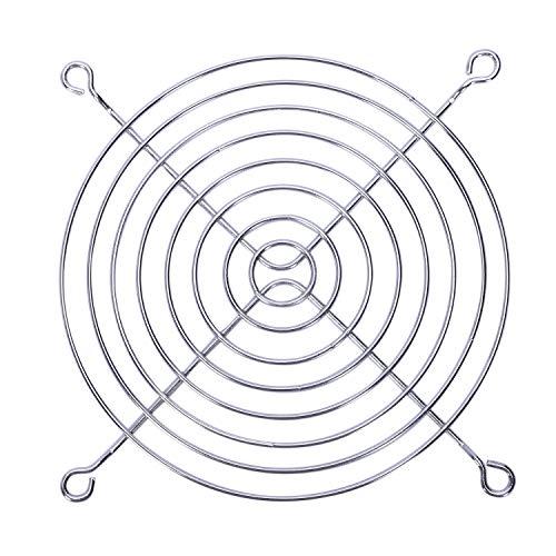 Dasing PC Lueftergitter Schutz Metall Fingerschutz 120 mm 12cm Silber Ton