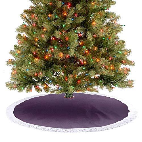 Faldas de árbol de Navidad de Hollywood Glam Show inspirado en color ombre, representación abstracta, imagen digital, adornos de decoración navideña, muy suaves y atractivos para el ojo, morado 77 cm