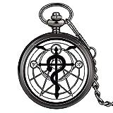 Fullmetal Alchemist Pocket Watch Mujer Colgante Relojes para Hombres Collar Reloj Longitud Total De La Cadena Aproximadamente 30Cm Diámetro Aproximadamente 4.8Cm Grosor Aproximadamente 1.5Cm