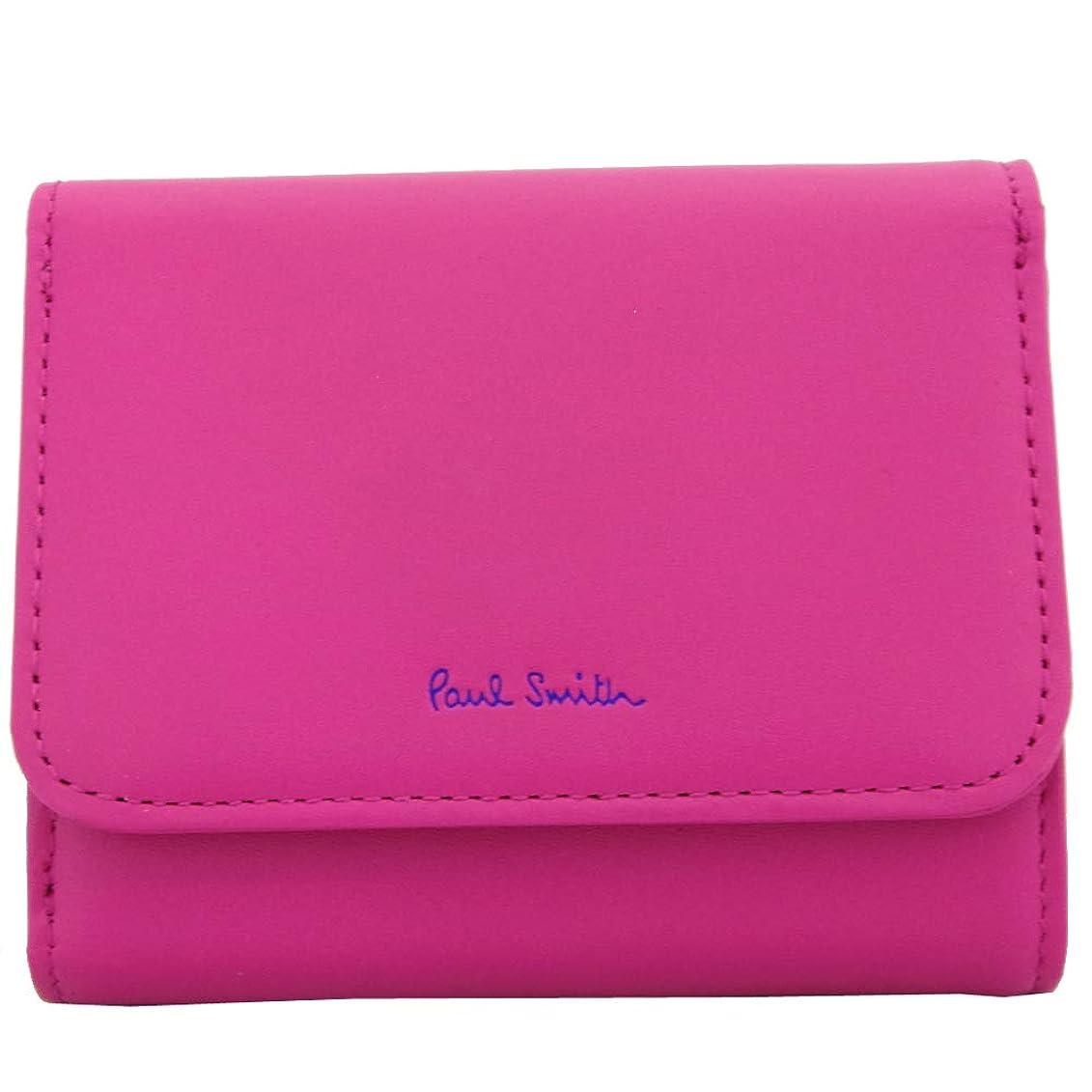 講義統合グレートオークPaul Smith(ポールスミス)三つ折り財布 ピンク