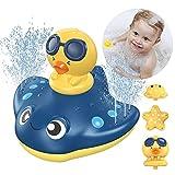 KIMILAR Badespielzeug, Baby Badespielzeug Wasserspielzeug, Sprühwassersäule Schwimmende Baden Spielzeug, Pool Wassersprühspielzeug Wasser Spielzeug für ab 1 Jahr Baby Kinder Party Geschenk