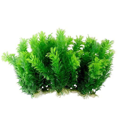 Saim® Green Artificial Plant, Plastic Aquarium Decoration, 10 Pcs, 12 Tall Each by Aquarium Plastic Plant Decor