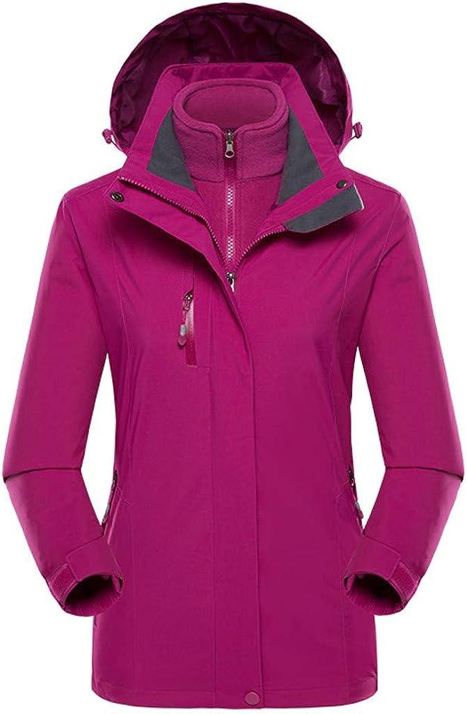 Cardigo Women Plus Size Waterproof Hoodie Hat Detachable Breathable Sport Outdoor Coat