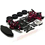 Hobbypower 1/10 Alloy & Carbon AWD Drift Racing Car Frame Body Kit