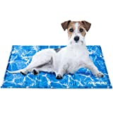Iokheira Dog Cooling Mat Large,Pet Cooling Mat Innoxious Gel Self Cooling Pad,Great for Dogs and Cats in Hot Summer (L: 90x50 cm(35.4x19.7 in), Blue)