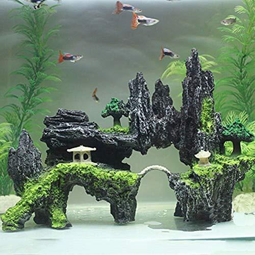 LEUM SHOP adorno para acuario con diseño de cueva y árbol, para decoración de acuario, resina, Large