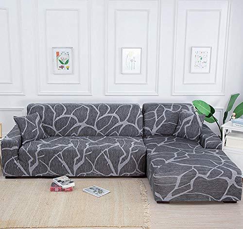 UTDFEOPSG Funda de Sofá y Antideslizante 2 Asientos, Funda de sofá elástica para Sala de Estar con Envoltura Ajustada, sofá Antideslizante con Todo Incluido Funda seccional Sofá-E 145-185CM