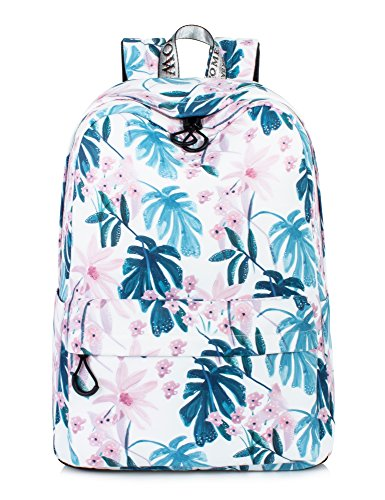 Leaper Floral Backpack Ink Painting School Bookbags Girls College Bag