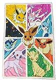 Pokemon Manta Sherpa EVOLI Evolutions – Manta Supersuave – Diseño Evoli – Regalo para Fan y Apasionado Tamaño 100 cm x 150 cm