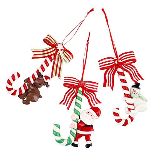 TOYANDONA 1 Set Natale Bastoncino di Zucchero Appeso Decorazioni per Feste Albero di Natale Appeso Abbellimento Decorazioni per Porte da Parete
