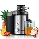 Juicer, Homeleader Juice Extractor for 3 Speed, Centrifugal Juicer Machine with Wide Mouth for Fruits and Vegetables, 600W BPA-Free