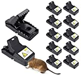 12Pcs Mouse Traps Indoor, Reusable Rat Trap Outdoor That Work for Rats Mice