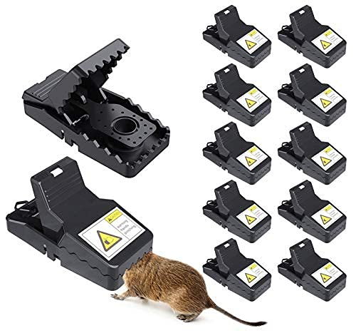 12Pcs Mice Traps for House Mouse Traps, Reusable Rat Trap for Indoor and Outdoor