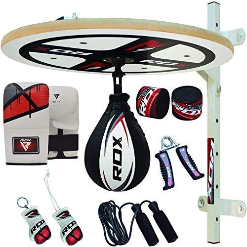 RDX 12pc Boxeo Plataforma Piel De Vacuno Pera Velocidad Bola Peras Speed Bag