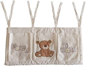 Yishelle-home Baby Diaper Organizer Baby Nursery Organizer For Clothing Diapers Toys Hanging Storage Bag Pockets Bedside Caddy Hanging Diaper Storage Bag  Color Picture Color  Size 32X68CM