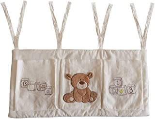 Hanging Nursery Organisers Baby Nursery Organizer For Clothing Diapers Toys Hanging Storage Bag Pockets Bedside Caddy Bed Hanging Storage Bag  Color Picture Color  Size 32X68CM