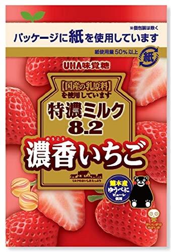 UHA味覚糖 特濃ミルク8.2 濃香いちご 75g ×6個