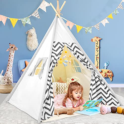 Kids Teepee Tent for Kids ,Kids Play Tent for Girls & Boys, Gifts Kids Playhouse for Toddlers Indoor Outdoor Games, Kids Toys House for Baby (Kids Teepee Tent)