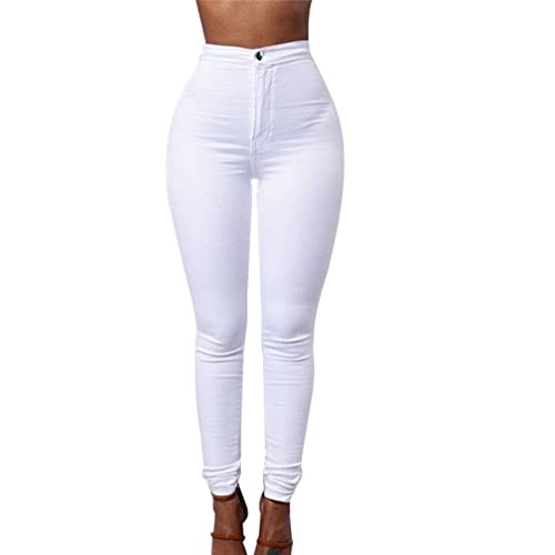 ZKOO Donna A Vita Alta Leggings Elastico Skinny Jeans Pantaloni in Denim Lunghi Matita Pantaloni