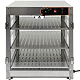 Olenyer Commercial Food Warmer Display 3-Tier Countertop 800W Electric for Buffet Restaurant Hamburger Pizza