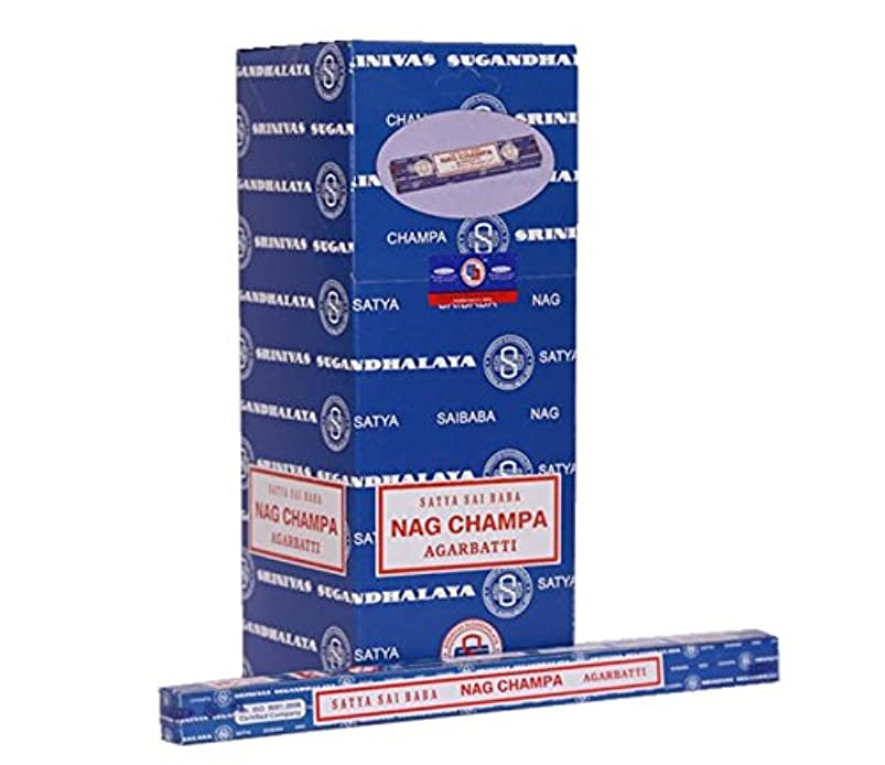 神秘インド可決SAI BABA Nag Champa Satyaお香250グラム| 25パックの10グラム各in aボックス|エクスポート品質