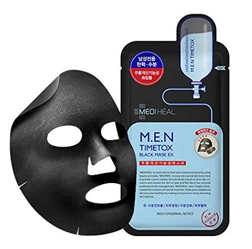 メディヒール M.E.N タイムトックス チャコール ミネラルマスク 25ml 10枚セット Mediheal TI...