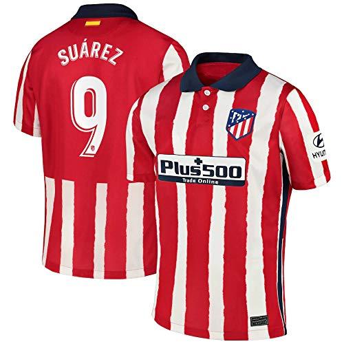 Y-shop Luis Suarez Atletico De Madrid Rot,Maillot Luis Suarez Trikot 2020/21 für Herren & Jungen(Rot,M)