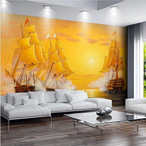 Fotobehang voor muren van elke grootte, 3D-olieverfschilderij, voor boten, woonkamerbehang, televisie, sofas, achtergrond, wandbekleding 3D
