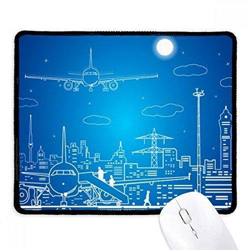 DIYthinker Metropolis City Flugzeug Wolke Landschaft Griffige Mousepad Spiel Büro Schwarz Titched Kanten Geschenk