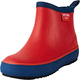 JOYCORN Little Kids Rain Boots for Toddler, Boys, Girls with Handle - Natural Rubber Waterproof Booties Cute Shoes with Soft Fabric Edge