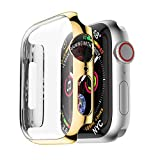 Yrzper - Funda para Apple Watch Series 4 44 mm/40 mm i Watch Ultra Slim Protective Cover PC Case para Apple iWatch 40 mm/44 mm dorado 40