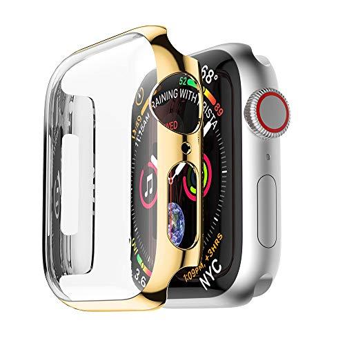 Yrzper Compatible con Apple Watch SE Series 6 5 4 44 mm 40 mm i Watch, funda protectora ultra fina de policarbonato para Apple iWatch 40 mm/44 mm