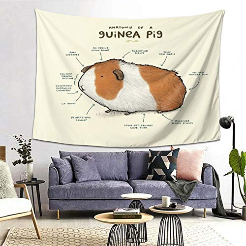 Anatomy of A Guinea Pig Floor Pillow Art Tapestry Handicraft Party Decoration Banner Garland Event Banner and Home Decoration