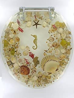 Sea Shell Lucite Tropical Fish Toilet Seat Seashell Standard Size