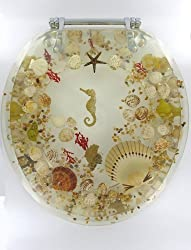 Clear Transparent Seashell Toilet Seat