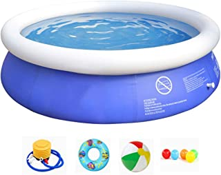 Swimming Pool Above Ground Pool Full-Sized Lounge Pool for Kiddie, Kids, Adults, Easy Set for Backyard, Summer Water Party