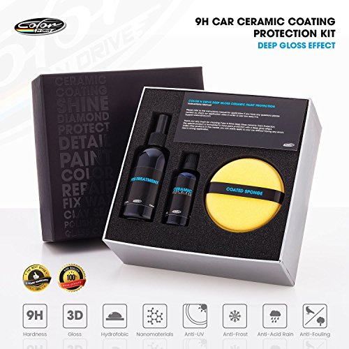 Color N Drive Car Ceramic Coating Kit 50 ml-9H Paint Sealant, Automotive Polish For Color Protection...
