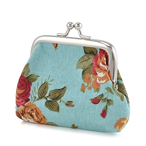 XdiseD9Xsmao Vintage reistas van canvas make-up tas met gesp voor munten hasp portemonnee