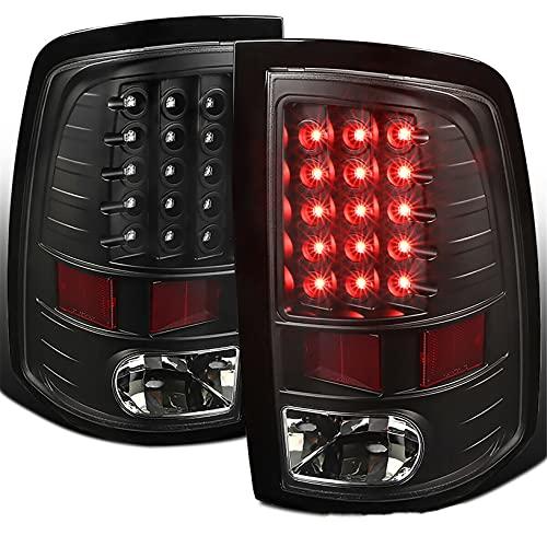 LABLT Black LED Tail Lights Brake Reverse Lamps Replacement for 2009-2018 Dodge Ram 1500 2500 3500