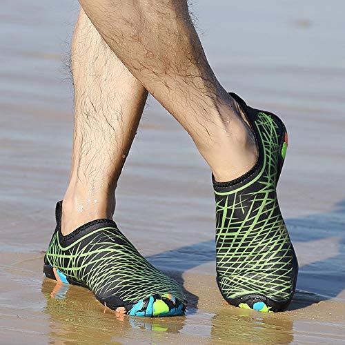 Festnight Hombres Mujeres Zapatos de Agua Deportes Secado rápido Descalzo para Nadar Buceo Surf Aqua Pool Beach Walking Yoga Zapatos de Ejercicio