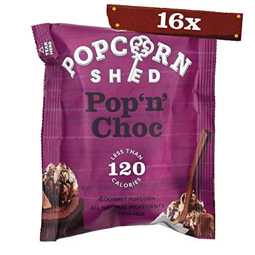 Popcorn Shed | Pop N Choc Popcorn Snack Pack, 24g, 16er Pack | Schokolade Karamell Popcorn | | Glutenfreie, Natürliche & Vegetarische Snacks